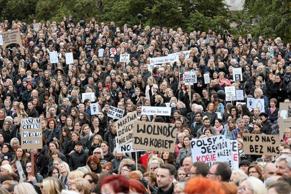 Czarny protest w Szczecinie, 3 października 2016